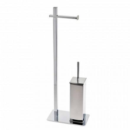 Modern design järnstativ för toalettborste och rulle Tillverkad i Italien - Cali