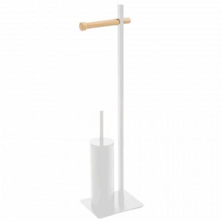 Toalettborstehållare och designpapper i Zelbio-metall och trä