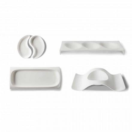 Serviseplattor för gourmetdesign i Bone China 9 Pieces - Flavia