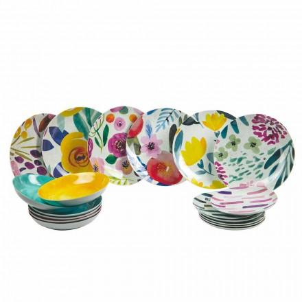 Färgade bordsskivor i stengods och porslin 18 stycken - Tintarello
