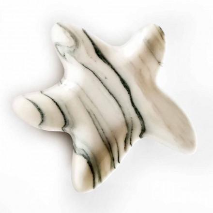 Modernt marmorfat i form av en sjöstjärna som tillverkas i Italien - Ticcio