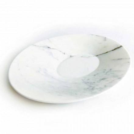 Modern mittstycke i vit Carrara marmor tillverkad i Italien - Miccio