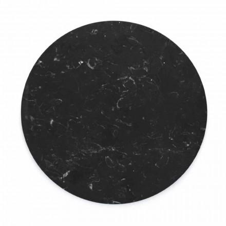 Rund ostplatta i vit eller svart marmor tillverkad i Italien - Kirby