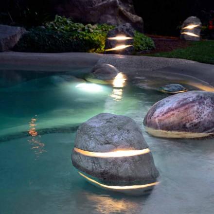 Sten dekorativa ljus genom nedsänkning belysnings två gånger med 2 slitsar