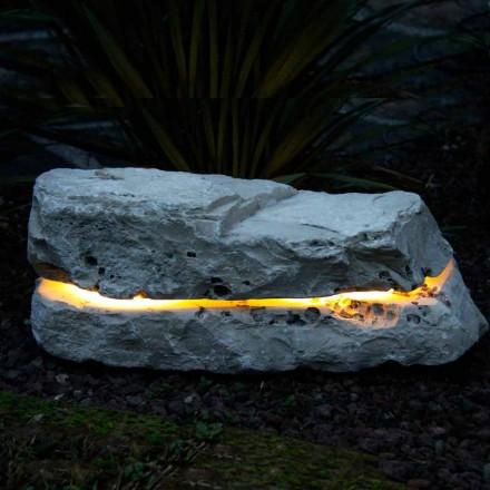 Sten belysning med ljud diffusor Fior di Pesco Carnico Sound