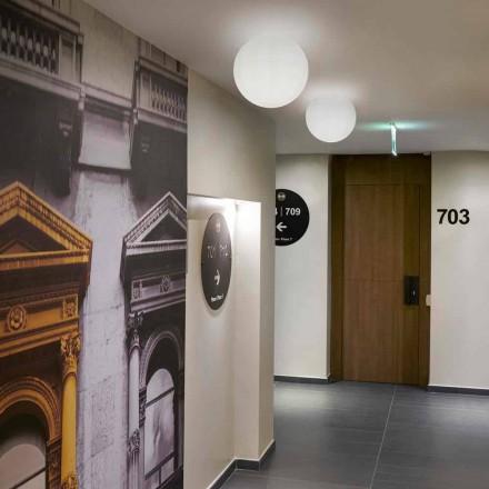 Slide Globo modern sfär taklampa tillverkad av polyeten, tillverkad i Italien