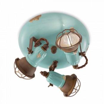 designen taklampa med tre spotlights industriell stil Allison Ferroluce
