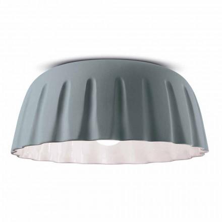 Vintage Design keramisk taklampa tillverkad i Italien - Ferroluce Madame Grès