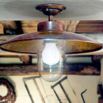 Mässing taklampa av Aldo Bernardi Nabucco koppar och glas