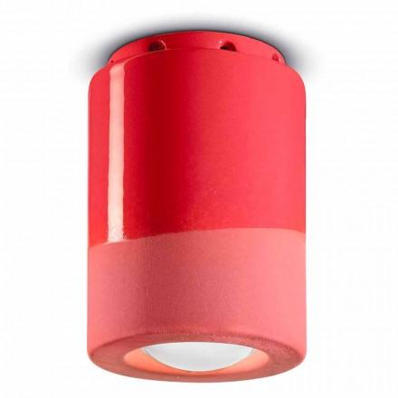 Vintage taklampa i keramik tillverkad i Italien - Ferroluce Pi