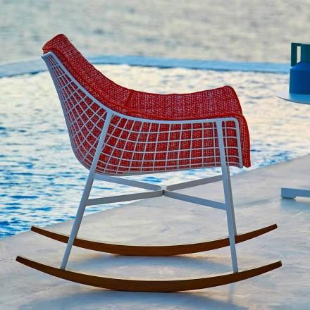 Varaschin Sommar Set trädgårdsgungstol i stål och trä