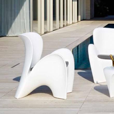 Designfärgad plastfåtölj utomhus eller inomhus - Lily av Myyour