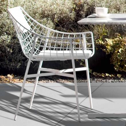 Varaschin Sommar utomhus fåtölj Design i vitt stål