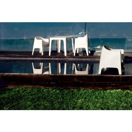 Modern design utomhus fåtölj i polypropen, Solid by Vondom