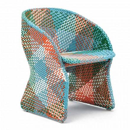 Trädgårdsstol i färgad flätad syntetfiber - Maat av Varaschin