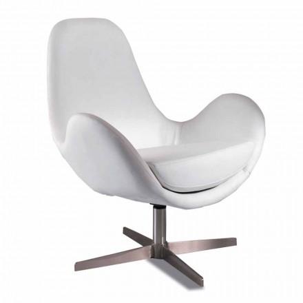 Klädslad och svängbar Leatherette vardagsrumsstol, modern design - Gajarda