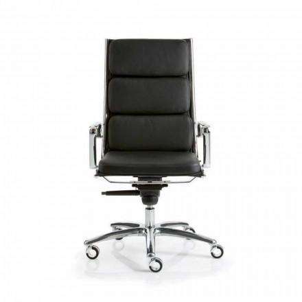 Verkställande kontorsstol med läderdesign Ljus Luxy