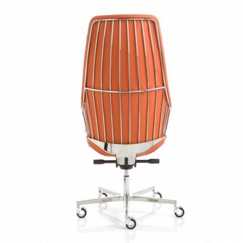 Verkställande kontorsstol modell av italienska Luxy, tillverkad i Italien