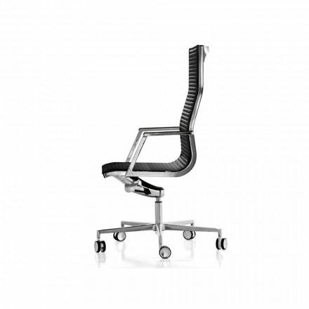 Ergonomisk kontorsstol med läder eller tyg Nulite Luxy