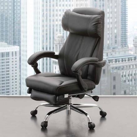 Rullstolar och lutande kontorsstolar i svart Eco-läder - Nazzareno