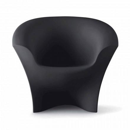 Fåtölj utomhus design i matt eller lackerad polyeten Tillverkad i Italien - Conda