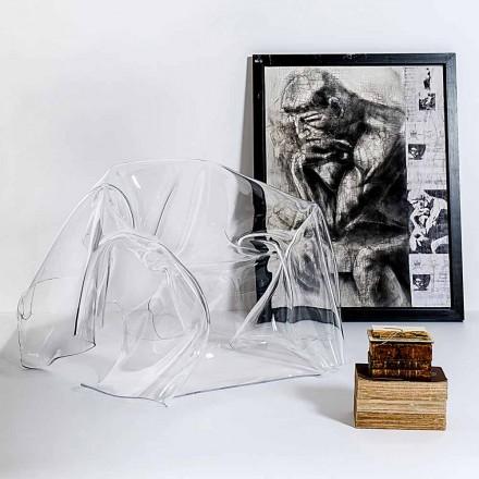 Fåtölj modern design plexiglas Paris, tillverkad i Italien