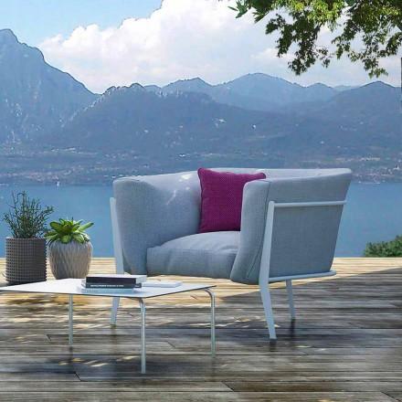 Modern och Made in Italy designfåtölj för utomhus- eller inomhus - Carminio1