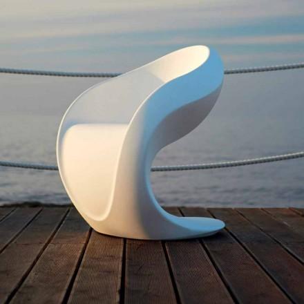 Inre eller extern design fåtölj i vit polyeten - Petra av Myyour