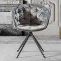 Armchari för modern design med tuftat arbete - Enea
