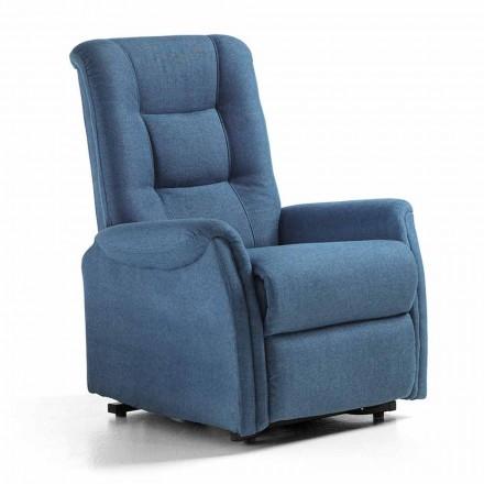 Lyxig relaxstol med personlyftsystem, 2 motorer, i vävnad - Victoire