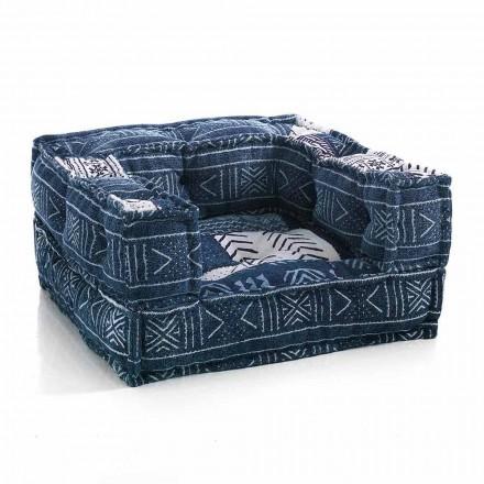Etnisk lounge fåtölj i lapptyg eller sammetsfiber
