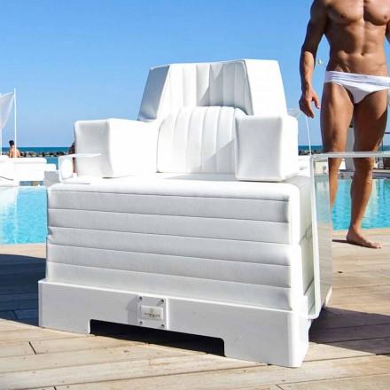 Flytande fåtölj Trona white design Lyx, tillverkad i Italien