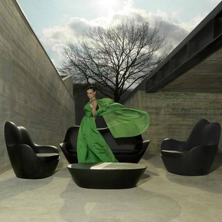 Modern trädgård fåtölj, tillverkad av polyeten, Sabinas av Vondom