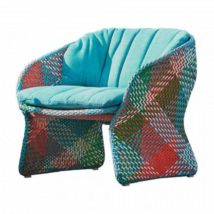 Klädd utomhusstol fåtölj, i syntetisk fiber - Maat av Varaschin