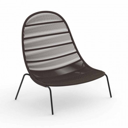 Garden Lounge fåtölj i aluminium och tyg - Panama av Talenti