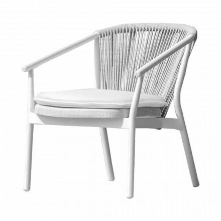 Garden Lounge fåtölj klädd tyg och aluminium - Smart av Varaschin