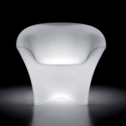 Lysande fåtölj utomhus i polyeten med LED-ljus Tillverkad i Italien - Conda