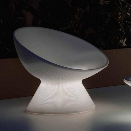 Lysande fåtölj utomhus i polyeten med LED-ljus tillverkat i Italien - Desmond