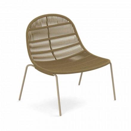 Design utomhusfåtölj i aluminium och tyg - Panama av Talenti