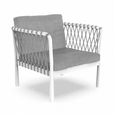 Modern fåtölj utomhus i aluminium och tyg - Sofy av Talenti