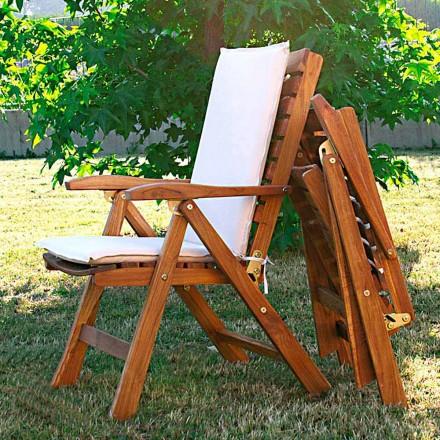 September 2 fällbara stolar i teak trädgårds