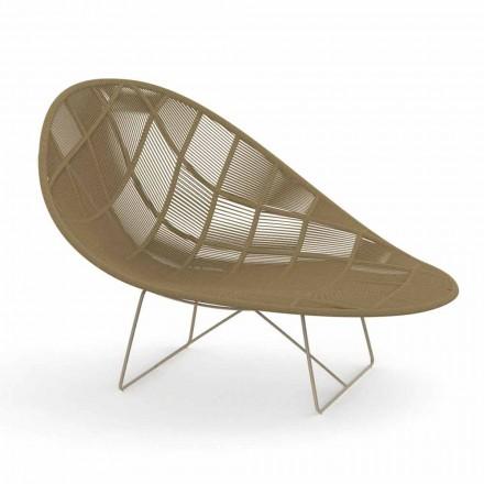 Modern Garden Relax fåtölj i aluminium och tyg - Panama av Talenti