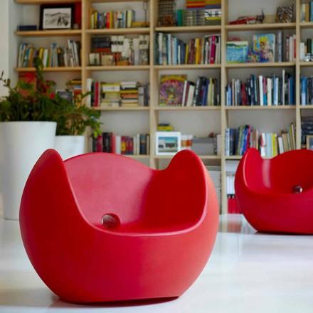 Gungstol för trädgård / design interiör Slide Blos, tillverkad i Italien