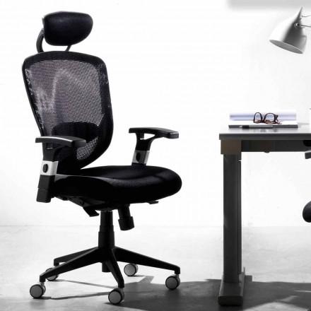 Riktnings- och operationell roterande modern svart stol - Simona
