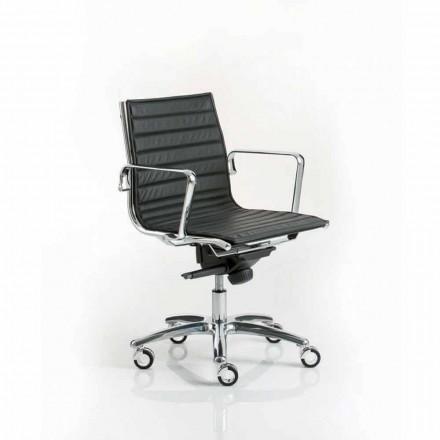 Modern design verkställande kontorsstol med hjul ljus Luxy