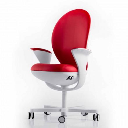 Verkställande kontorsstol med läder eller tyg Bea Luxy