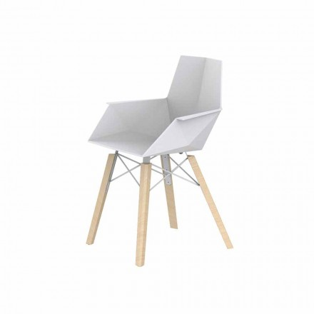 Design Living Room Fåtölj i polypropen och trä - Faz Wood av Vondom