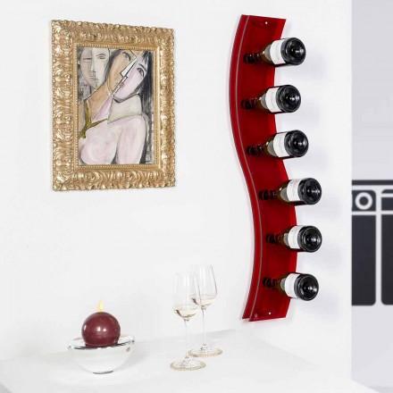 Porta flaskor designer vägg L26,5xH100xP9cm Serry rosso