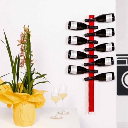 Porta flaskor rött väggen baby Big L6xH100xP11cm, modern design