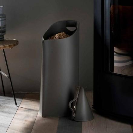Porta pellets scoop inifrån Sapir designen svart läder